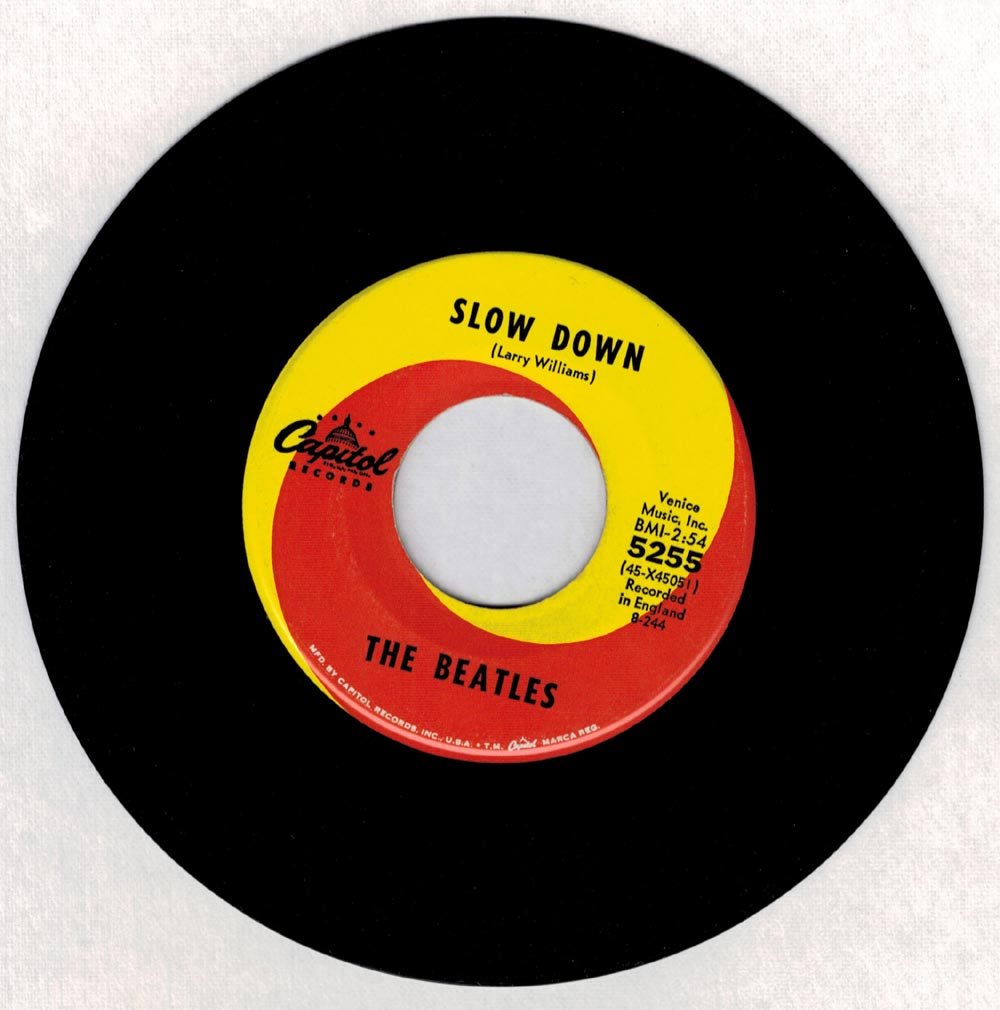 THE BEATLES-SLOW DOWN / MATCHBOX 45 RECORD CAPITOL 5255 45 ...
