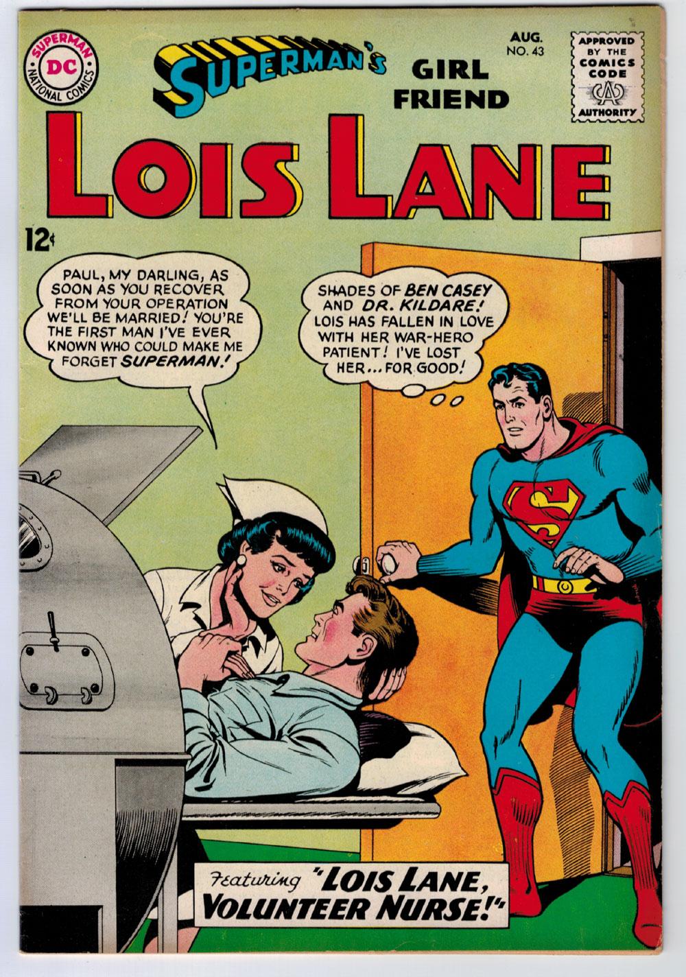 Supermans girlfriend lois lane 43 65 creamoff white pages silver supermans girlfriend lois lane 43 65 creamoff white pages silver age altavistaventures Choice Image