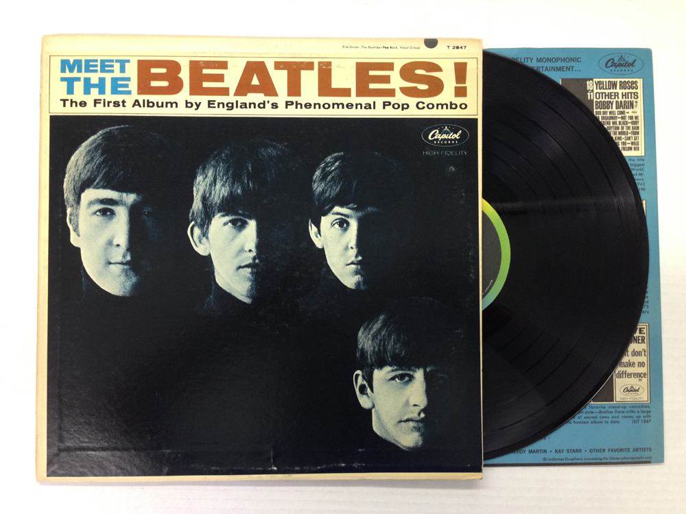 Details about THE BEATLES-MEET THE BEATLES-2nd press-MONO-Vinyl 6 5, Sleeve  6 5