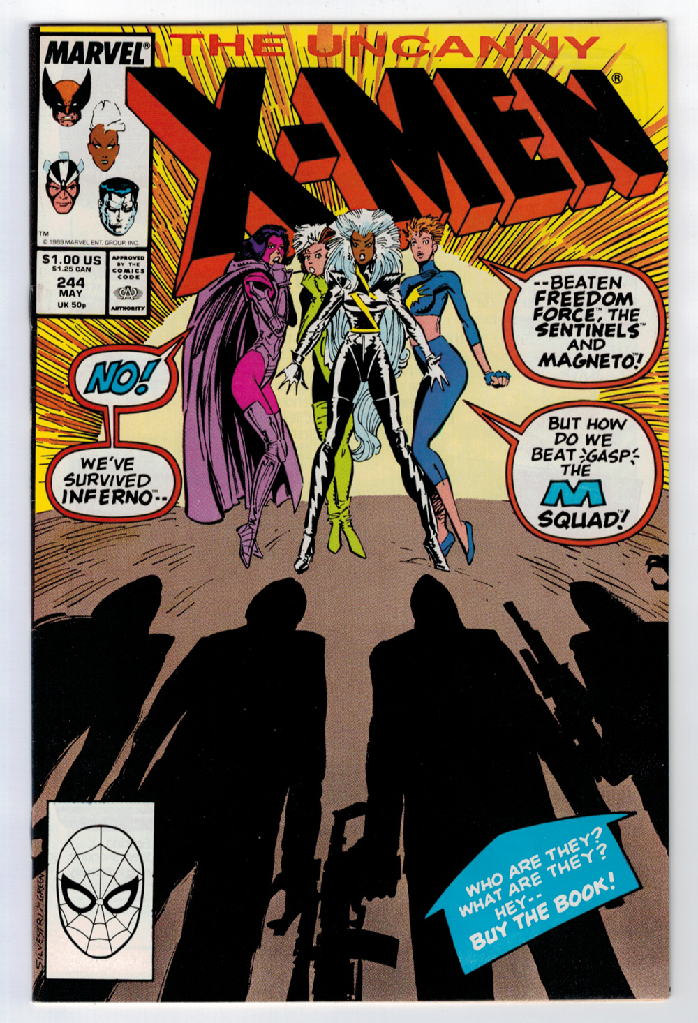 1e5811fe2572 Details about X-MEN  244 9.1 HIGHER GRADE 1ST JUBILEE 1989 OFF-WHITE WHITE  PAGES KEY BOOK 🔑