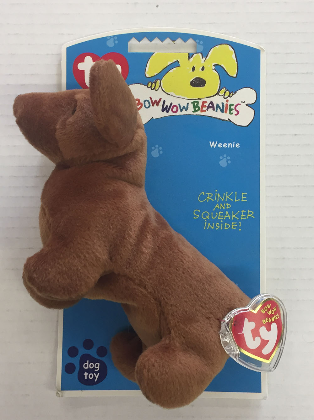 4df9e174d47 Details about WEENIE THE DACHSHUND DOG TOY TY BOW WOW BEANIES 2006